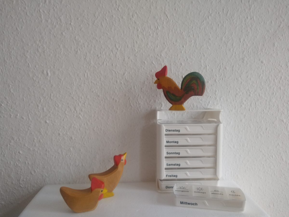 Randnotizen mit Huhn